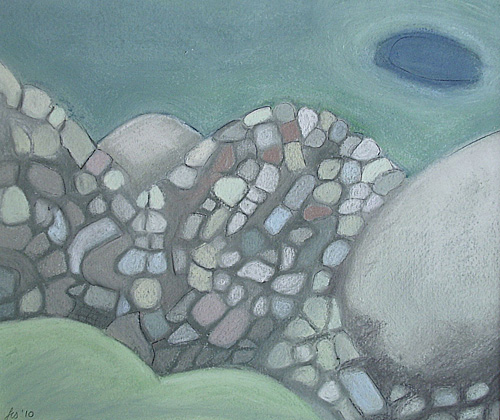 rocks, near minack (2010) sold