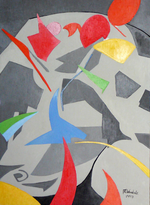 Abstract composition 4 - oil painting