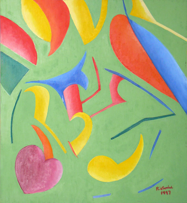 Abstract composition 5 - oil painting