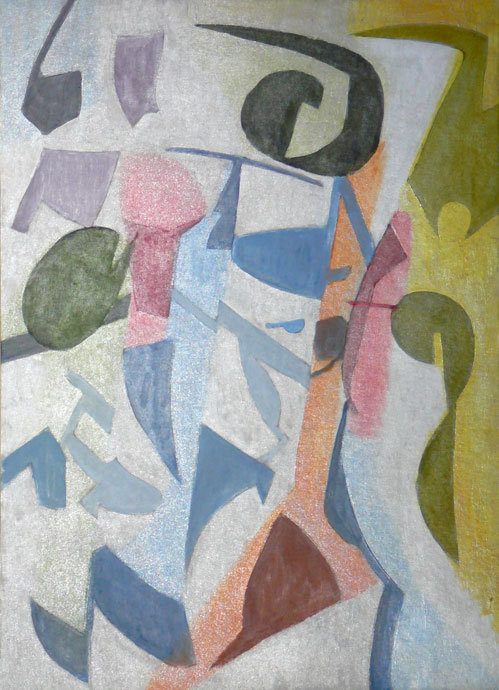Abstract composition 7 - oil painting