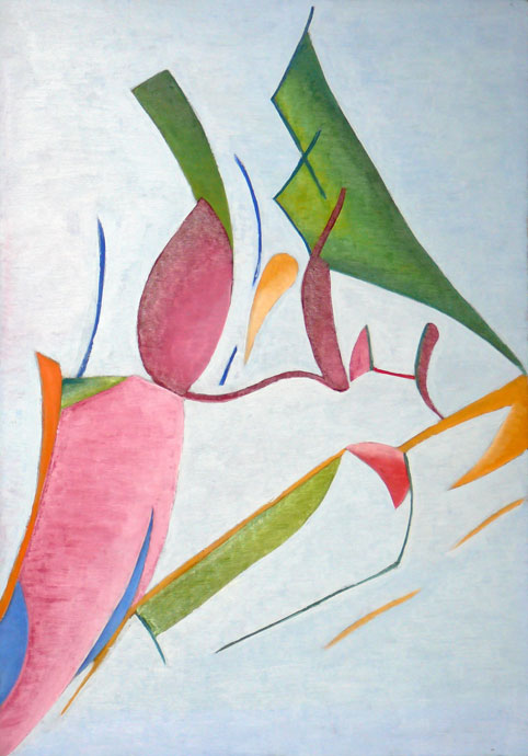 Abstract composition - oil painting
