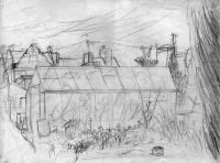 Greenhouse - pencil drawing