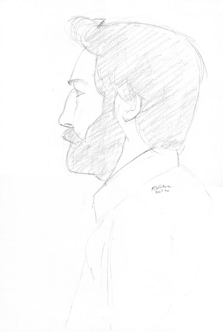 Portrait - Joel - Croydon Life Drawing Group - pencil
