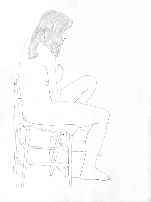 Life Drawing - Ann - Croydon Life Drawing Group - pencil