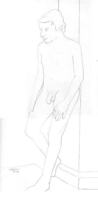 Life Drawing - Vijay - Croydon Life Drawing Group - pencil