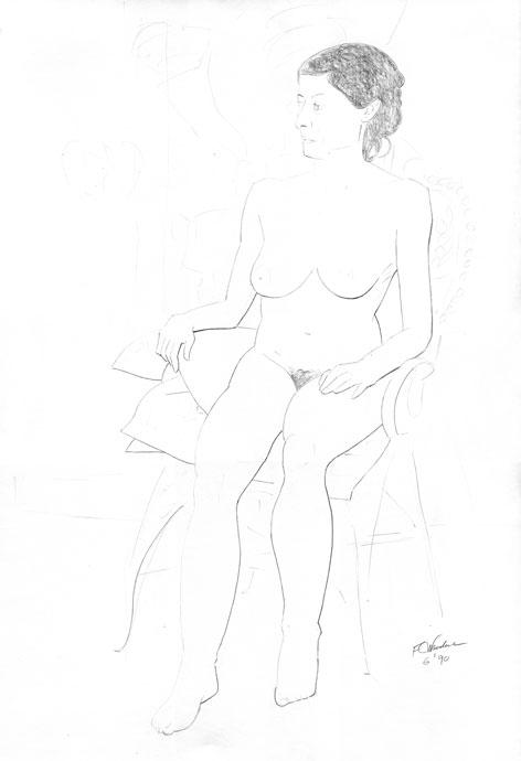Life Drawing - Croydon Life Drawing Group - pencil