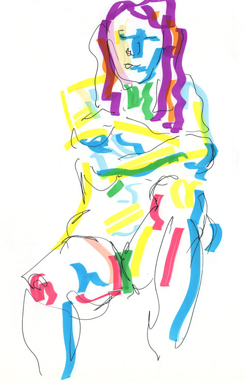 Life drawing - Emily - 27 10 10