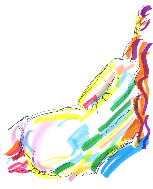 Life drawing - Emily - 27 10 11