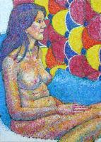 Life painting - Priscila - acrylic