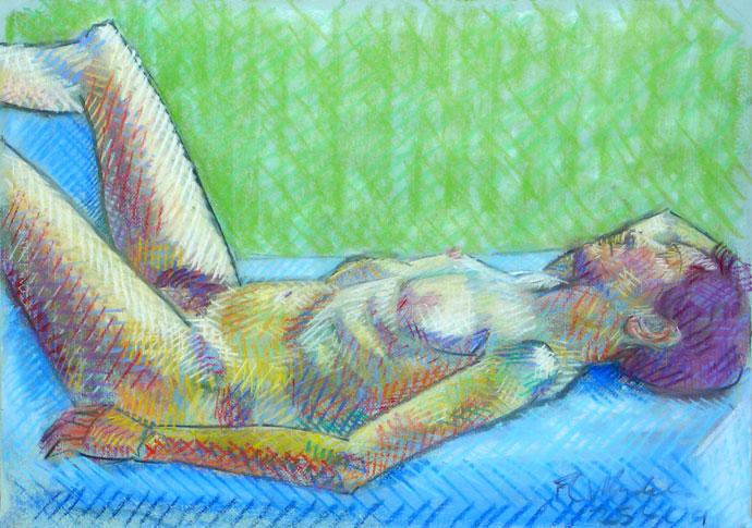 Life study - Anna - Croydon Life Drawing Group - pastel