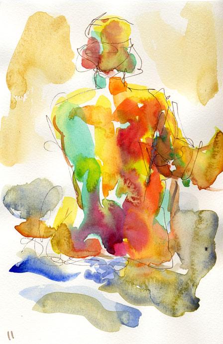 Life study - Claire - watercolour