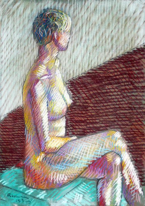 Life study - Clare - Croydon Life Drawing Group - pastel