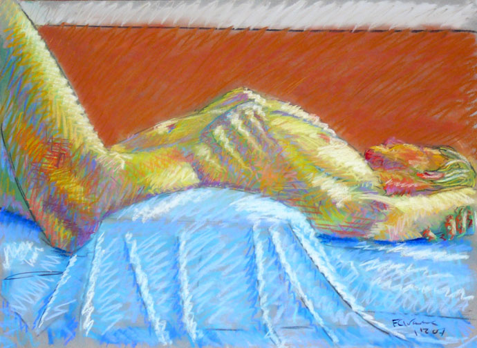 Life study - Clare - Croydon Life Drawing Group - pastel