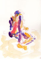 Life study - Dreda - Croydon Life Drawing Group - watercolour