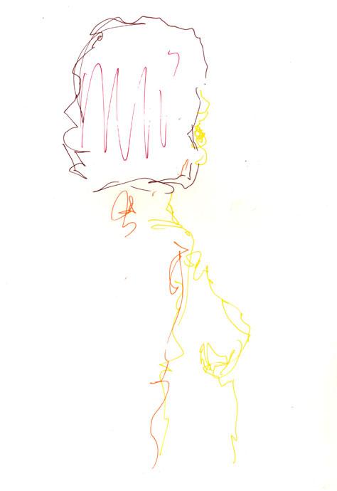 Life study - Emily - Croydon Life Drawing Group - marker pen