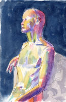 Life study - Fred - Wapping Life Group - watercolour