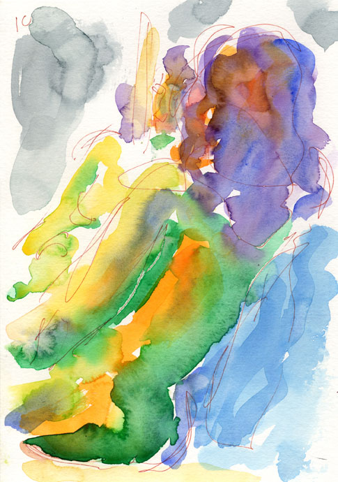 Life study - Gamze - watercolour