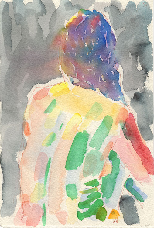 Life study - Hilary - watercolour - 29-07 16