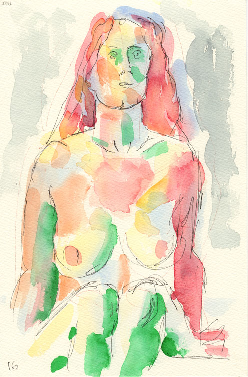 Life study - Hilary - watercolour - 29-07 17