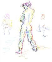 Life study - Ji Yu - Croydon Life Drawing Group - marker pen