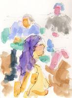 Life study - Katelyn - Croydon Life Drawing Group - watercolour