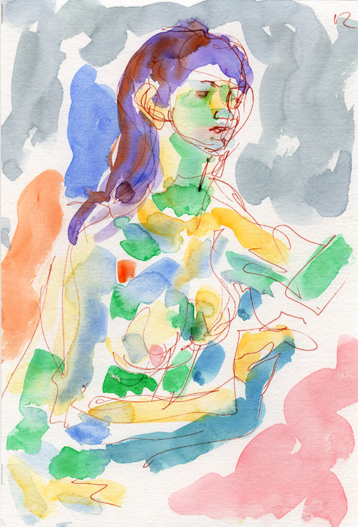 Life study - Keira - Watercolour
