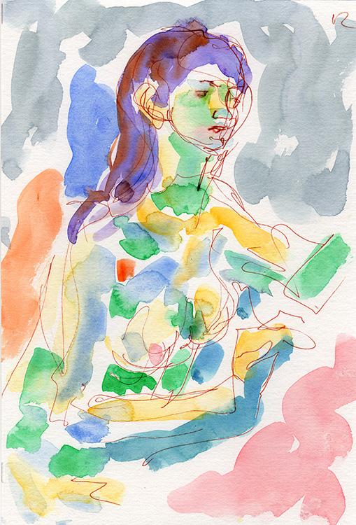 Life study - Keira - Watercolour