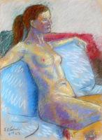 Life study - Lara - Croydon Life Drawing Group - pastel