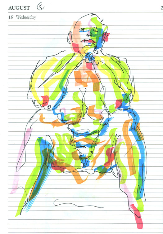 Life study - Leo - Marker pen 26-08 5