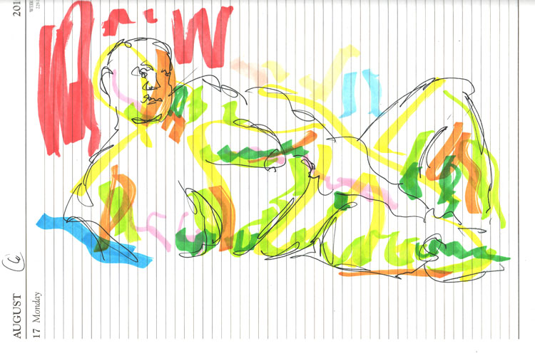 Life study - Leo - Marker pen 26-08 6