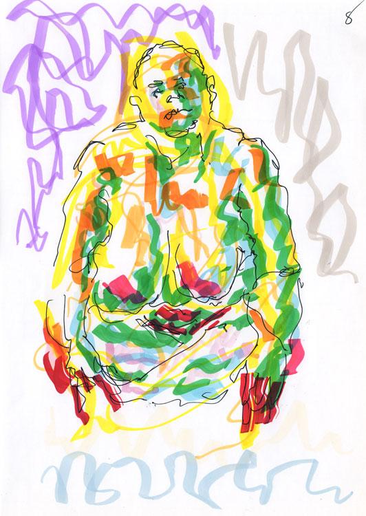 Life study - Leo - Marker pen 26-08 8