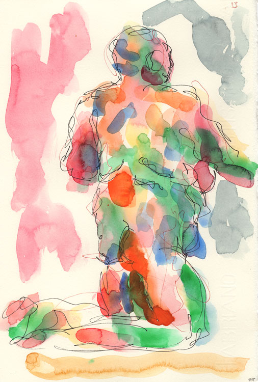Life study - Leo - Watercolour 26-08 13