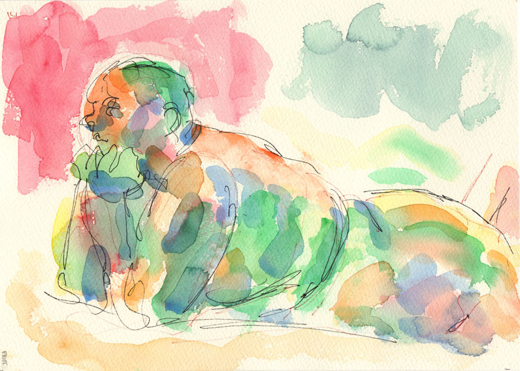 Life study - Leo - Watercolour 26-08 14