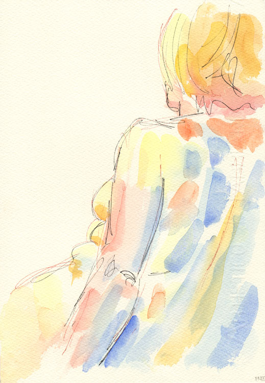 Life study - Lilly - Watercolour