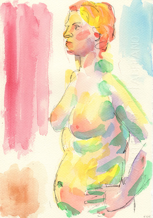 Life study - Lilly - Watercolour - 09-06-14