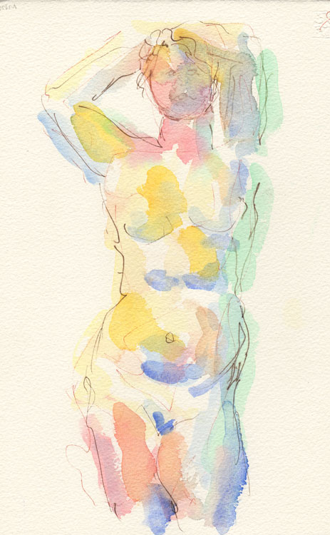 Life study - Lilly - Watercolour - 09-06-8