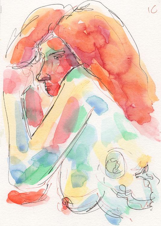 Life study - Marianne - watercolour