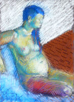 Life study - Michelle - Croydon Life Drawing Group - pastel