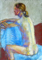 Life study - Ricardo - Croydon Life Drawing Group - pastel