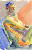 Life study - Richard - Croydon Life Drawing Group - watercolour