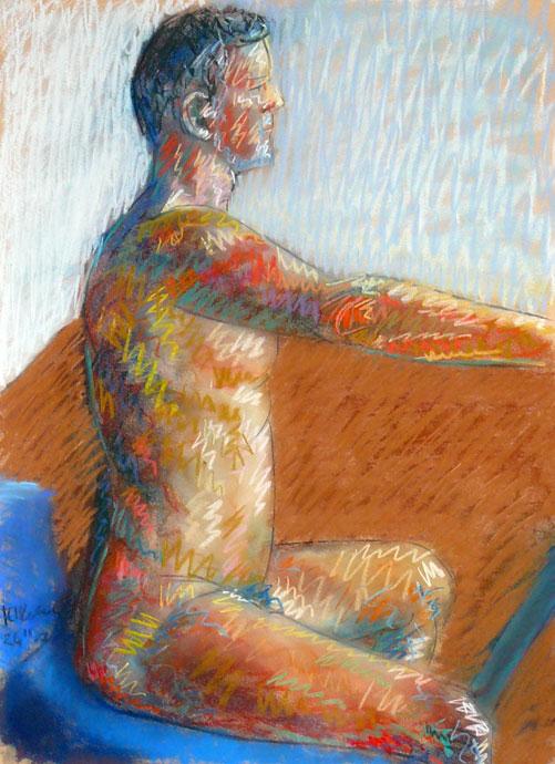 Life study - Richard - Croydon Life Drawing Group - pastel