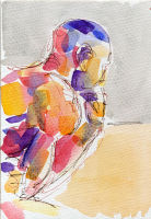 Life study - Sebastian - Croydon Life Drawing Group - watercolour