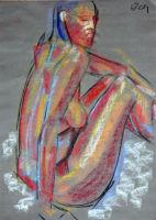 Life study - Sharon - pastel