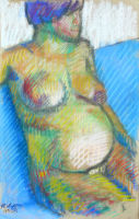Life study - Soleil - Croydon Life Drawing Group - pastel