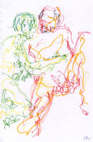 Life study - Spirited Bodies - marker pen