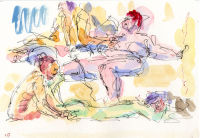 Life study - Spirited Bodies Mortlake - watercolour