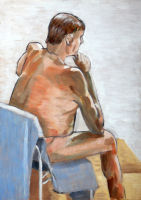 Life study - Stan - Croydon Life Drawing Group - oils
