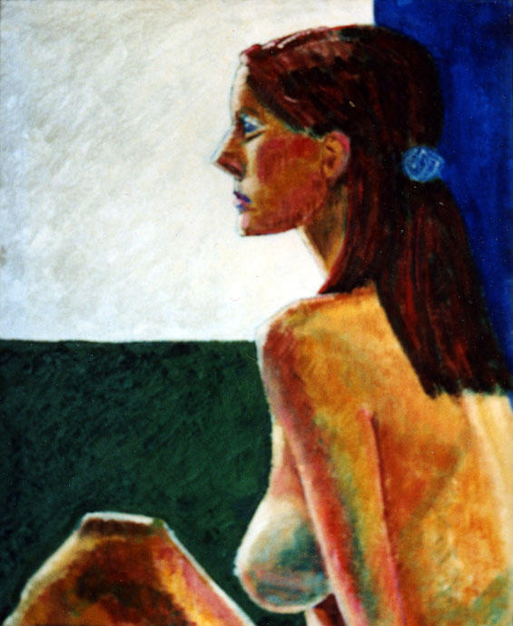 Life study - Tanya - Croydon Life Drawing Group - oil painting