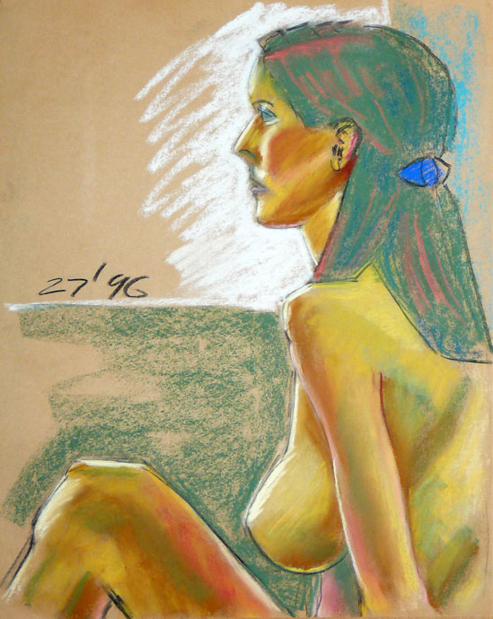 Life study - Tanya - Croydon Life Drawing Group - pastel