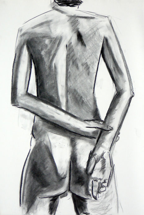 Life study - Vijay - Croydon Life Drawing Group - charcoal